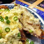 博多麺番長 - 九州地鶏竜田揚げ油淋タルタルソース添え(2016年1月)