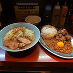 立川マシマシ - ミニラーメン&マシライス( 2015年12月18日)