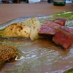 イタリア料理とワイン MARE VIGNA - ☆黒毛和牛炭火焼きはイチボ肉(^^♪☆