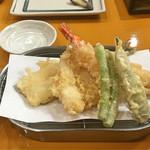 天ぷら 筧 - 天ぷら盛り合わせ(1,200円)