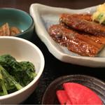 46583673 - さんま蒲焼と野菜天婦羅880円