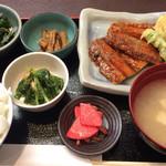 46583676 - さんま蒲焼と野菜天婦羅880円