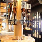 かいえん 海鮮と日本酒の専門店 - セルフドリンクコーナー