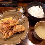 毘央志 - 匠の大山鶏唐揚げランチ(¥950)。かなりのボリューム!