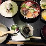 源輝家 - 海鮮桶丼御膳・御飯大盛り 税込¥950