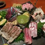 炭火焼 みや澤 - 4種盛り♡お魚どれも美味しい(●>ω<)ノ゙ハイッ