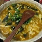 中華第一家 杜記 - 酸辣汤面(スーラータン麺)。