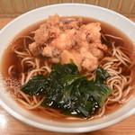 六文そば 日暮里第1号店 - ゲソ天そば(390円)