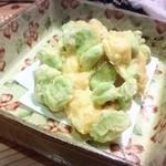 旬鮮 なが田 - 空豆と海老のかき揚げ(2015.11月)