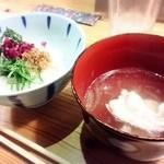 旬鮮 なが田 - じゃこめしと鯛の吸い物(2015.11月)