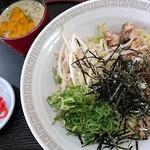 瓢華 - つけ麺のタレはゴマだれ!麺は平打ち
