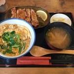 忍庵 - 特上炭火親子丼別皿お味噌汁込み、1400円です。