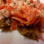パントリー - シメ鯖とビーツとポテトのサラダ (写真前に崩しちゃいました…)と黒パン