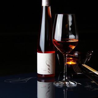 グラスの量が選べる、ワインテイスティング