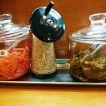 二十八代目 哲麺 - 卓上調味料