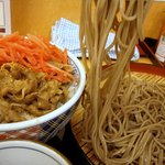 そば処 吉野家 - 牛丼と十割そばセット