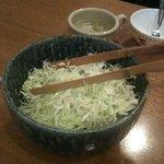 鉄板料理 深川亭 - 「サラダ」という名のキャベツの千切り