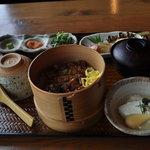 Sanshounoki - うなぎおまぜ昼膳 1800円