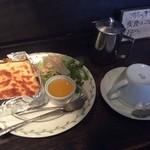 Hattorikohikoubou - モーニング(チーズトースト)