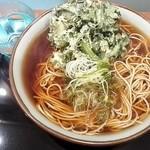 文殊 川越ホーム店 - 春菊そば¥400+大盛¥100