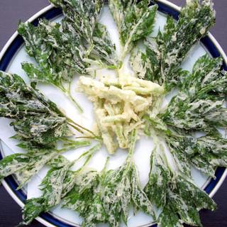 無性に「明日葉の天ぷら」が食べたくなって…というお客様多数