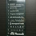 Yamaのuchi - エレベーター内の看板