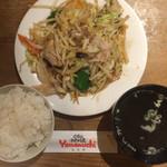 Yamaのuchi - 野菜炒めライス850円