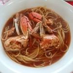 ハイタイドカフェ - 渡り蟹のパスタ \680