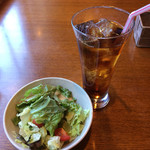 Browny - +サラダ・ドリンク(烏龍茶)