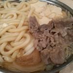 あづま - 肉鍋550円+うどん100円