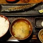 越後屋吉之助 - (2015/11月)「生さんま塩焼き定食」