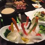 旬彩串焼 だん - 季節野菜のバ-ニャカウダ