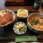松屋そば店 - ミニかつ丼セット890円