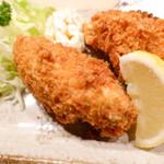 鈴新 - 牡蠣フライ1つ400円