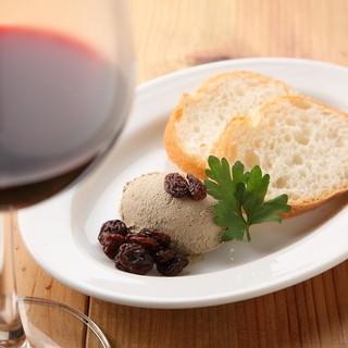 ソムリエによる、こだわりのワインや、豊富なドリンクを堪能