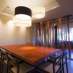 健美和楽 花ん華 - ビッグテーブルでは大人数の気軽なお食事会にも対応