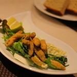 横浜馬車道 旬の肉料理イタリアン オステリア・アウストロ - モロコのフリット。琵琶湖のモロコだそうです