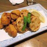 芳べえ - 鶏とレンコンの唐揚げ2015.11.30