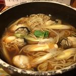 鳥元 - 牡蠣の生姜蕎麦