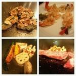 うまかもん亭 - 牡蠣、海老、野菜、お肉