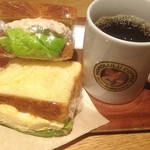 ホノルルコーヒー - デニッシュサンド ツナ、たまご