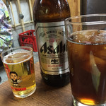 やまちゃん - 瓶ビール(大)とウーロン茶