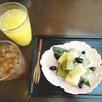 桜茶寮 - '10/7温州みかんジュースとケーキ