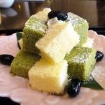 桜茶寮 - '10/7「黒豆とスポンジのケーキ