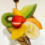 千疋屋総本店 タカシマヤフードメゾン新横浜店 - フルーツポンチ(プレーン)~綺麗なフルーツ飾り♪