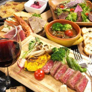人気の鉄板ハラミ、粉もん鉄板メニュー、チーズのメニュー多数