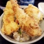 丸亀製麺 - (2016.1再訪)ご飯+イカ天+かしわ天+半熟たまご天 計480円