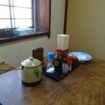 とんかつ太郎 - テーブルの上