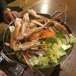 46650098 - 今回はかにすき食べ放題                       これが1回分。                       蟹も野菜も追加は空になってから。                                              4人で4回追加。                                              飲み放題もついて3990円はお得❤️