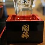まるじゅう井とう - 国稀冷(550円)